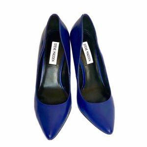 Steve Madden Cobalt Blue Genuine Leather Pumps